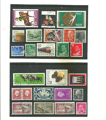 Europe mix    2  stock cards mix collection stamps