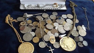 JOB LOT OF COINS ANTIQUE AND VINTAGE COLLECTABLES ( HIGH SILVER COUNT) 99p A/V K