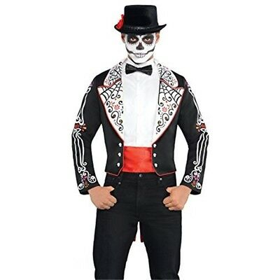 Amscan International Adults Day Of The Dead Tailcoat - Fancy Mens Halloween