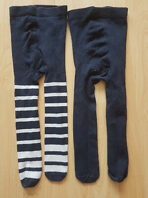 Next Baby Boys Navy Cotton Tights size 6-12 months