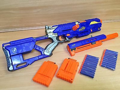 Nerf LongStrike CS6 N Strike Blaster Foam Dart Sniper Rifle Gun Kids Toy Hasbro