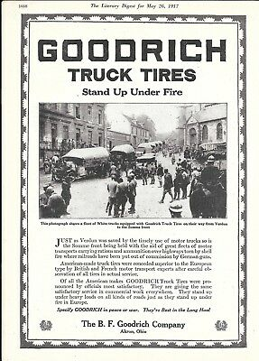 1917 Goodrich Truck Tires From Verdun To The Somme Front Ad