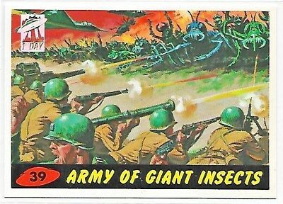 Mars Attacks Army Of Giant Insects 1st Day Stamp #39 Topps Archives 1994