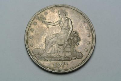 1877 Silver Trade Dollar, High VF/XF Grade - C6266