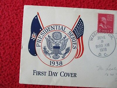 1938 AWESOME Presidential Seal (80 years old),President F.D.R.,1st day Cover!