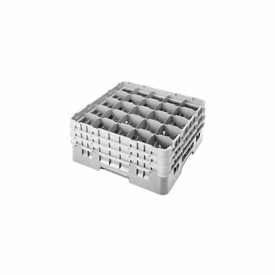 Cambro 25S638151 Soft Gray Camrack Full Size 25 Compartment Glass Rack