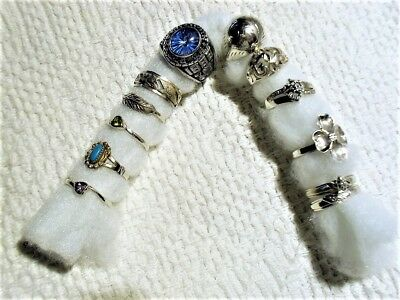 Collection Of Rings From Estate Lot Of 11 Some Gemstone,& .925 Silver No Reserve