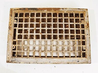 VINTAGE FLOOR REGISTER Antique Cast Iron Square Heating Grate Vent Victorian Old