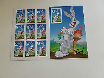 United States Scott 3137, the BUGS BUNNY SHEET OF Ten Stamps Mint