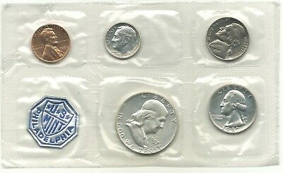 High Grade 1957 Us Mint Proof 5 Coin Set With 3 Silver Coins-Agt155