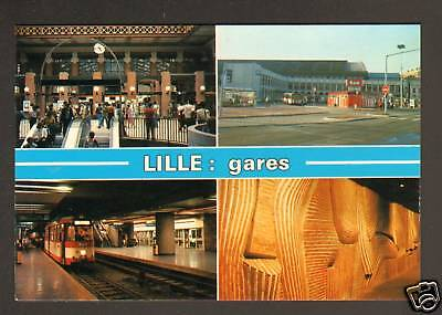Lille (59) Gares : Metro - Sncf - Mongy - Routiere