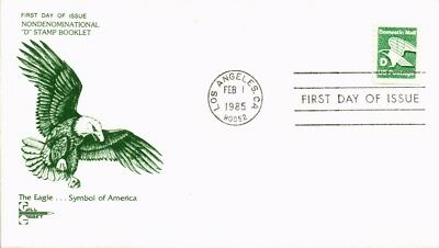 Dr Jim Stamps Us Eagle D Rate First Day Cover 1985 Gill Craft Cachet Los Angeles
