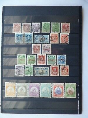 CRETE, EPIRUS & LIMNOS :- Mint & Used selection on 2 sheets.