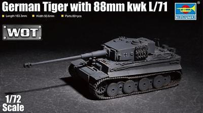 TRUMPETER® 07164 German Tiger w/88mm kwk L/71 (WOT) in 1:72