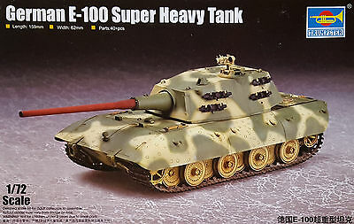 TRUMPETER® 07121 WWII German Super Heavy Tank E-100 in 1:72