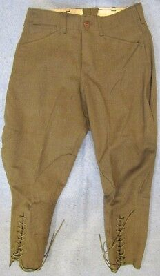 Original WWI US Army officer quality wool breeches, marked 30 x 24