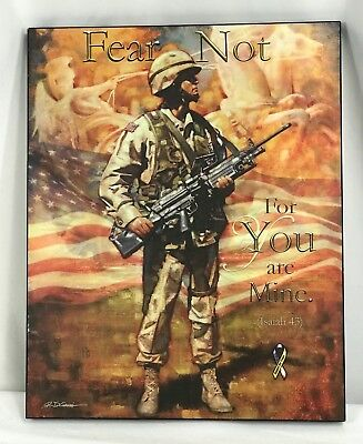"""US Army """"Fear Not For You Are Mine"""" Mounted Print"""