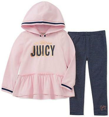 Juicy Couture Girls Pink Tunic & Legging Set Size 2T 3T 4T 4 5 6 6X 7 8/10 12