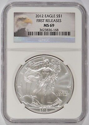 United States 2012 American Silver Eagle $1 NGC MS69 First Releases 3623836-168