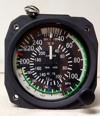 True Airspeed Indicator 40- 240 MPH/40-210 Knots - Lighted