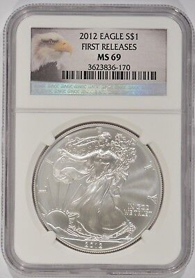 United States 2012 American Silver Eagle $1 NGC MS69 First Releases 3623836-170