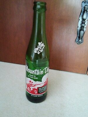 Collectible Vintage 1960's Mountain Dew Bottle Filled By Ed And Gene Tickle Ya