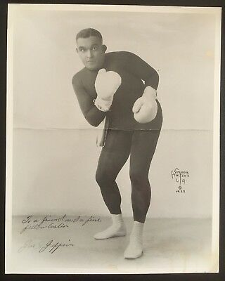 Nice Photograph Of The Great Heavyweight Champion James J. Jeffries In Pose!!