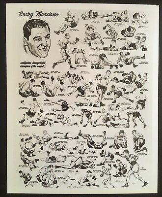 Nice Photograph Of Original Caricature Featuring The Legendary Rocky Marciano!!