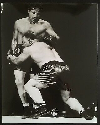 Superb Photograph The Great Max Baer And Contender Tony Galento In Action 1940!!