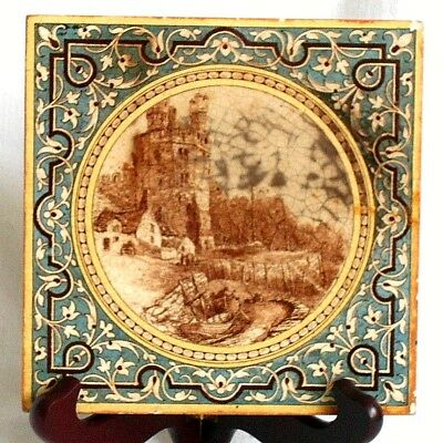 C19Th Minton China Works Stoke On Trent Tile