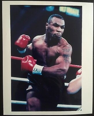 Superb Photograph Legendary Heavyweight Champion Mike Tyson In Vicious Action!!