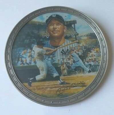 BRONX BOMBER MICKEY MANTLE NEW YORK YANKEES COLLECTION PLATE 1996 No.9382B