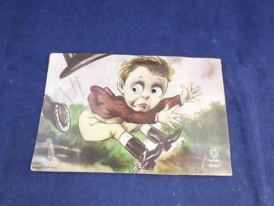 Vintage Novelty Postcard Moving Eyes Rider Kicked by Horse.