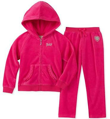 042699591c4 JUICY COUTURE GIRLS Kids Velour Jacket Pants TrackSuit Set Outfit 3t ...