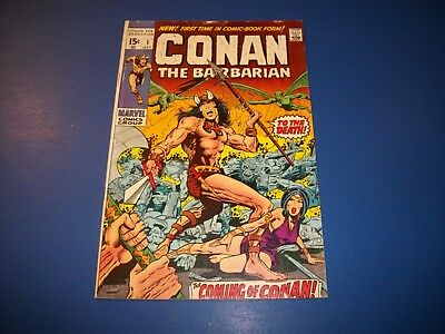 Conan the Barbarian #1 Bronze age 1st Conan Barry Smith Key Wow Fine-