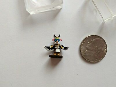 "Kachina doll painted miniature less than  1"" tall exquisite!"