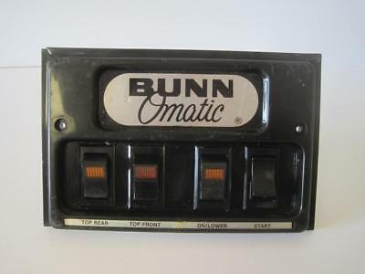 Replacement Bunn Omatic Face Plate Control Button On/off Heat Switches Coffee