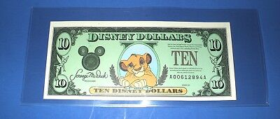 "$10. 1997 DISNEY DOLLAR - SIMBA - Mint Condition - SERIES ""A"""