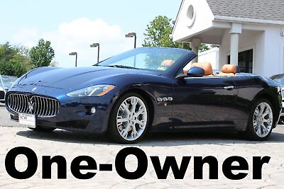 Maserati GranTurismo Convertible 2014 One Owner Auto Blue on Saddle Up to Date Service Records Like New Perfect