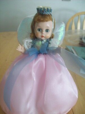 """VINTAGE MADAME ALEXANDER 8""""  BKW DOLL TAGGED  """"TOOTH FAIRY"""" with crown & wings"""