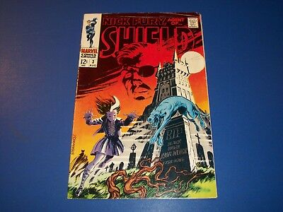 Nick Fury Agent of Shield #3 Silver Age Fine- Beauty Steranko Key Wow