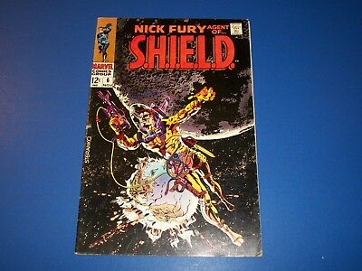 Nick Fury Agent of Shield #6 Silver Age Steranko Solid Fine