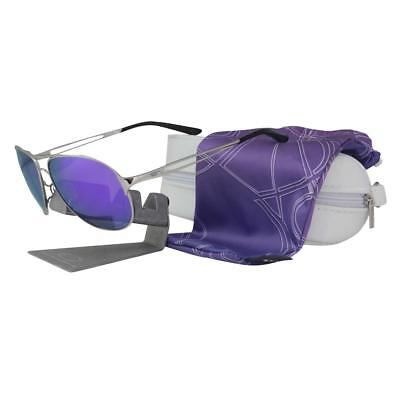 Oakley OO 4054-23 POLARIZED CAVEAT Chrome Violet Lens Womens Metal Sunglasses .