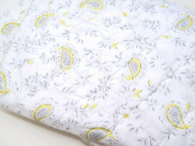 Pottery Barn Kids Multi Colors Gray Yellow Lara Paisley Baby Toddler Crib Quilt