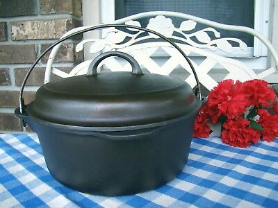 Griswold Cast Iron #8 Tite-Top Dutch Oven with Matching Lid – Cleaned / Seasoned