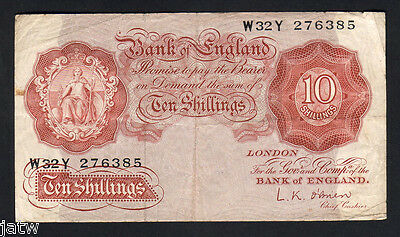 GREAT BRITAIN P-368c. (1955-60) 10 Shillings. O'brien..  aVF