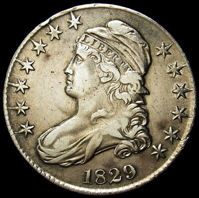 1829 Capped Bust Half Dollar Large Letters - Extremely Fine (Details) -