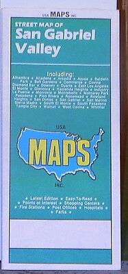 1986 USAMAPS Street Map of San Gabriel Valley California