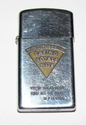vintage 1966 ZIPPO Detroit Sales District FORD Auto Dealers Casino Royale Night