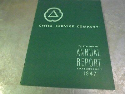 Vintage 1947 Cities Service Annual Report